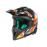 Touratech Aventuro EnduroX Namib Motorradhelm (schwarz / orange)