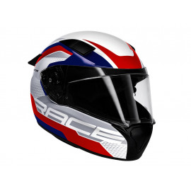 BMW Motorcycle Helmet Race Circuit (white / blue / red / grey)
