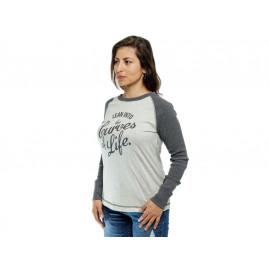BMW Curves T-Shirt manga larga Dama (gris)