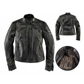 BMW BlackLeather Chaqueta de moto Dama (negro)