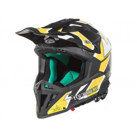 Touratech Aventuro EnduroX Compañero Motorcyle Helmet (black / yellow)