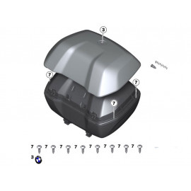 BMW Topcase Set R1200GS (2013-2018) S1000XR (2015-2016) R1250GS (2019)