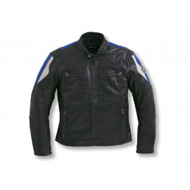 BMW Motorcycle Jacket Club Leather Men (black / blue)