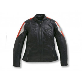 BMW Motorcycle Jacket Club Leather Women (black / red)