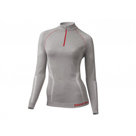 BMW Shirt Thermo Women (light gray / red)
