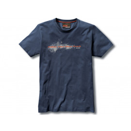 BMW Make Life a Ride T-Shirt Uomo (blu)
