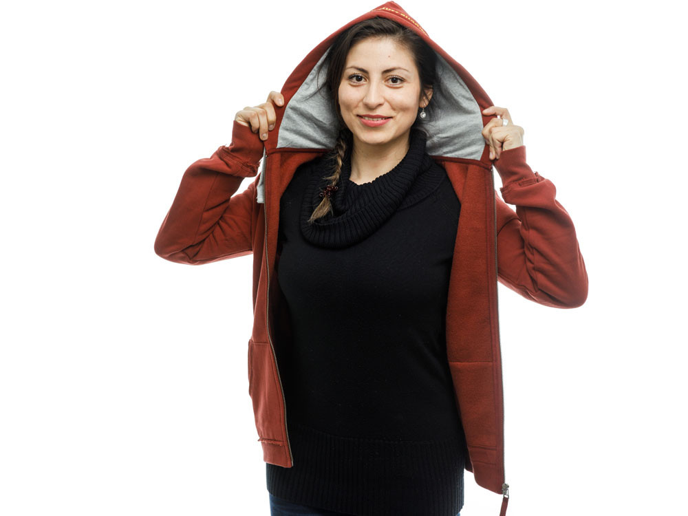 BMW Hooded Sweatshirt Vintage Lady (red)