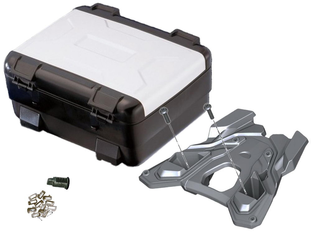 BMW Top Case Vario Set R1250GS (2018-) R1200GS (K50 2017-) codeable