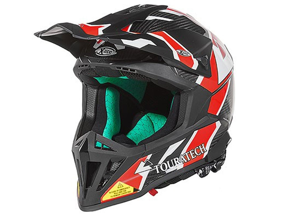 Touratech Aventuro EnduroX Passion Motorcyle Helmet (black / red)