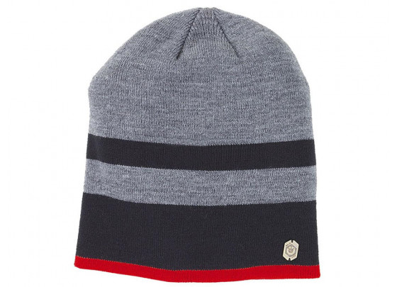 BMW Beanie Hat Stripes Unisex (black / grey)
