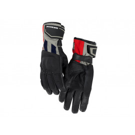BMW GS Dry Motorcycle Gloves Men (grey / red)