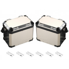 BMW Motorcycle Pannier Set Aluminium R1200GS (K50 2017-) R1200GS Adventure (K51) R1250GS (2019) R1250GS Adventure (2019) codeable