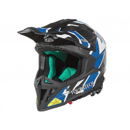 Touratech Aventuro EnduroX Pacific Motorcyle Helmet (black / blue)