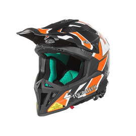 Touratech Aventuro EnduroX Namib Motorcyle Helmet (black / orange)