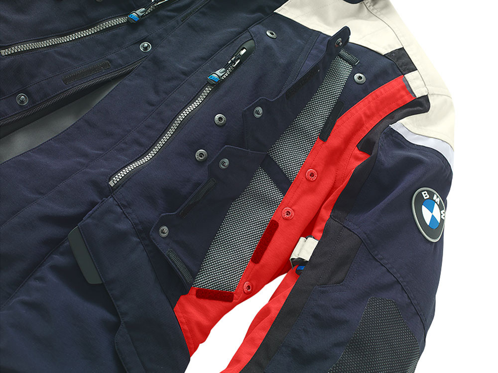 bmw rallye 2018 motorcycle jacket men dark blue red. Black Bedroom Furniture Sets. Home Design Ideas