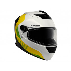 BMW Helmet Street X Comp neon (white / yellow / neon)