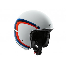 BMW Legend Tricolor Jet Helmet (White,Blue,Red)